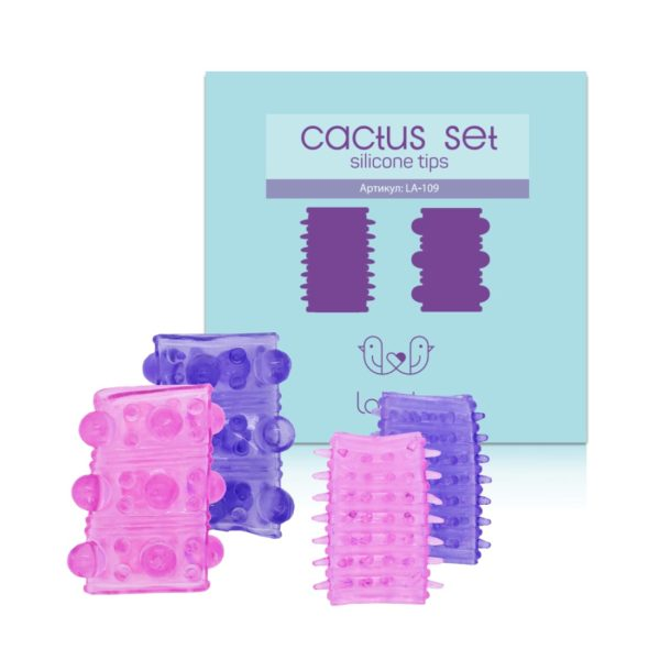Набор из силиконовых насадок на пенис Cactus Set 4шт